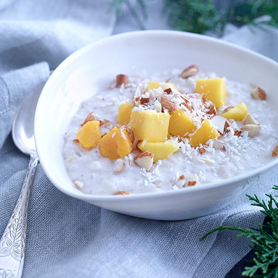 Rice pudding with coconut milk
